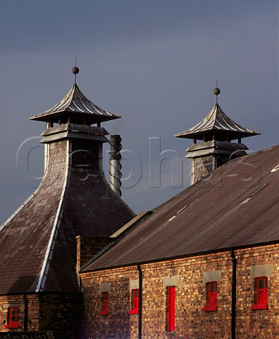 Pagodas of the Old Bushmills Whiskey Distillery Bushmills County Antrim Northern Ireland