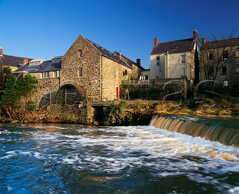 River Bush and old waterwheel at Bushmills County Antrim Northern Ireland
