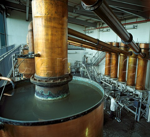 Copper stills at United Distillers Gordons   Tanqueray etc Laindon Essex