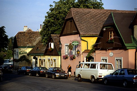 Picturesque Heuriger along the Sandgasse   in Grinzing a suburb of Vienna Austria