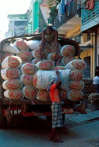 Rice from Thailand arriving in Rangoon   Burma