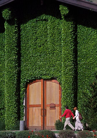Door of Clos du Val winery Napa   California