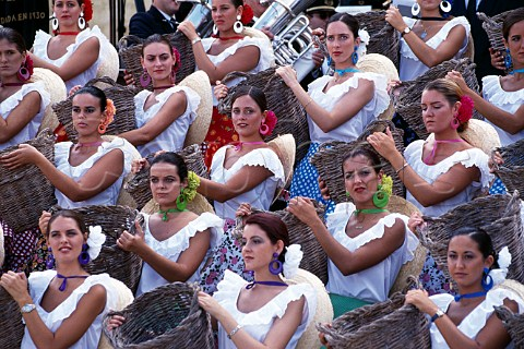 The Harvest Girls during the Festival of   the Grape Jerez de la Frontera   Andaluca Spain   Sherry