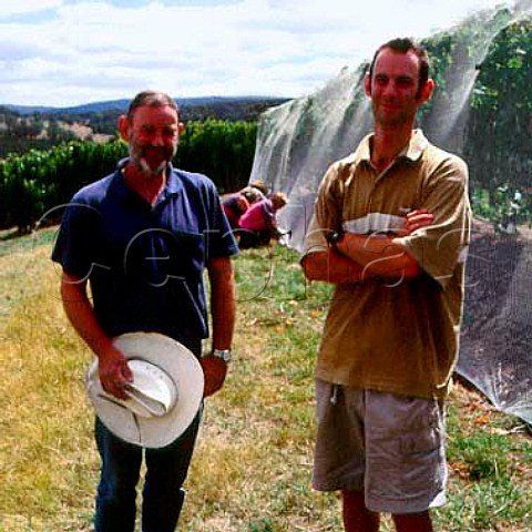 David Lance with son James   Diamond Valley Vineyards StAndrews   Victoria Australia     Yarra Valley