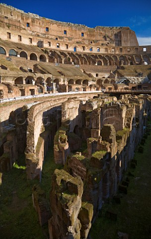 Interior of the Colosseum Rome Italy