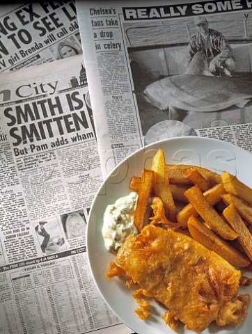 Cephas picture library asset details 1215269 fish and for Fish and chips newspaper