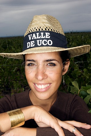 Maria Victoria Niven tour guide at Bodegas Salentein and El Portillo  Uco Valley Mendoza Argentina