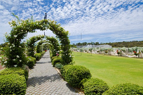 Garden and vineyard of Voyager Estate Margaret River Western Australia