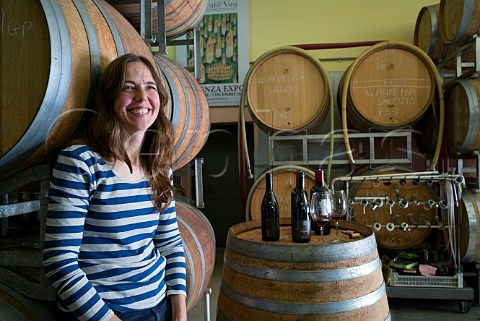 Lisa Gelbee winemaker and owner of Morella Manduria Puglia Italy