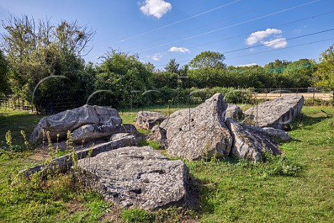 Little Kits Coty stones  the ruins of a neolithic burial chamber  Aylesford Kent England