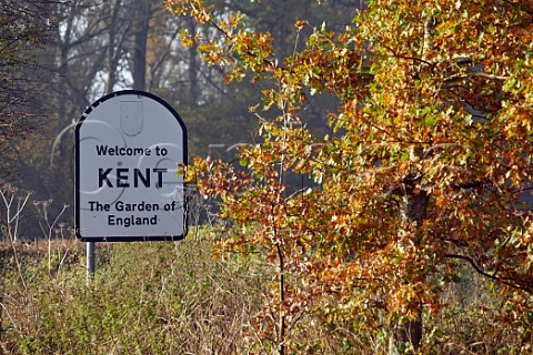 Welcome to Kent sign  Westerham Kent England